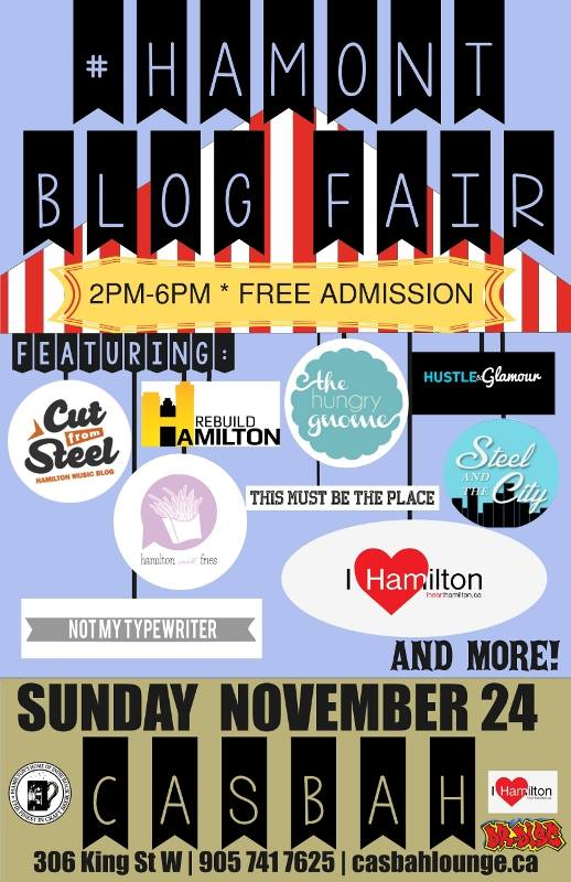 #HamOnt Blog Fair Poster at the Casbah