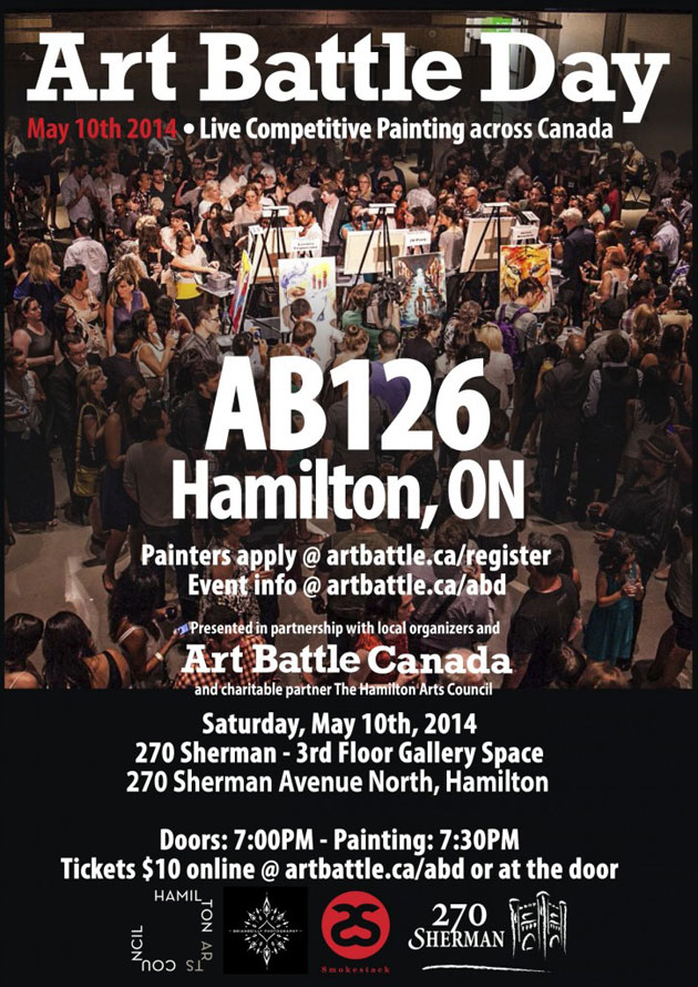 Art Battle Day Poster